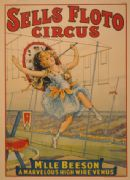 Vintage Circus Poster Sells Floto Circus Presents M'lle Beeson
